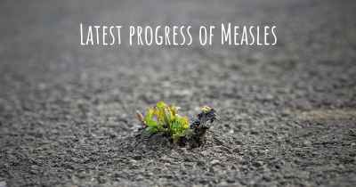 Latest progress of Measles