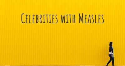 Celebrities with Measles