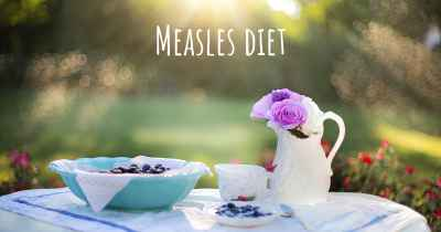 Measles diet