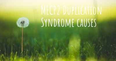 MECP2 Duplication Syndrome causes