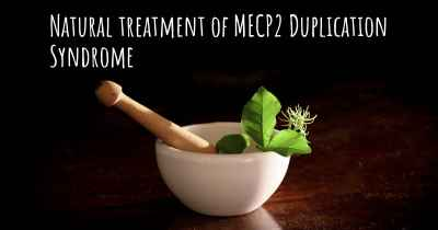 Natural treatment of MECP2 Duplication Syndrome
