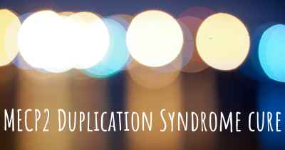 MECP2 Duplication Syndrome cure