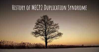 History of MECP2 Duplication Syndrome