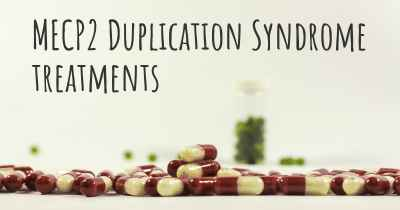 MECP2 Duplication Syndrome treatments