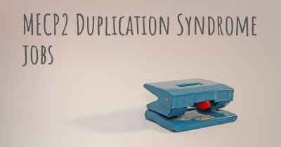 MECP2 Duplication Syndrome jobs