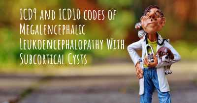 ICD9 and ICD10 codes of Megalencephalic Leukoencephalopathy With Subcortical Cysts