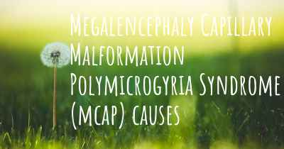 Megalencephaly Capillary Malformation Polymicrogyria Syndrome (mcap) causes
