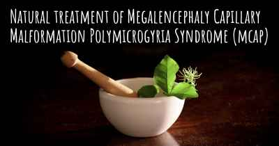 Natural treatment of Megalencephaly Capillary Malformation Polymicrogyria Syndrome (mcap)