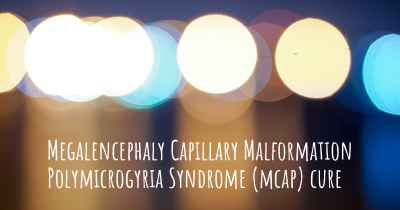 Megalencephaly Capillary Malformation Polymicrogyria Syndrome (mcap) cure