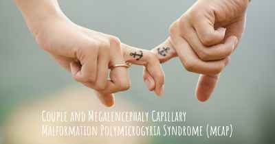 Couple and Megalencephaly Capillary Malformation Polymicrogyria Syndrome (mcap)