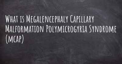 What is Megalencephaly Capillary Malformation Polymicrogyria Syndrome (mcap)
