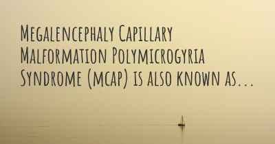 Megalencephaly Capillary Malformation Polymicrogyria Syndrome (mcap) is also known as...