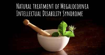 Natural treatment of Megalocornea Intellectual Disability Syndrome