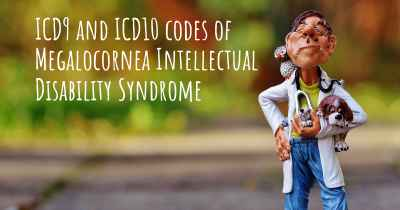 ICD9 and ICD10 codes of Megalocornea Intellectual Disability Syndrome