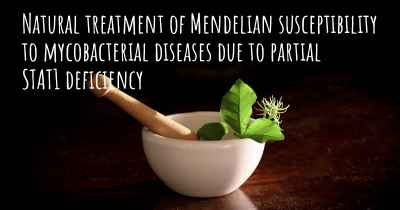 Natural treatment of Mendelian susceptibility to mycobacterial diseases due to partial STAT1 deficiency