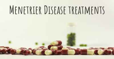 Menetrier Disease treatments