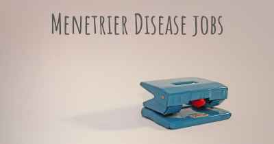 Menetrier Disease jobs