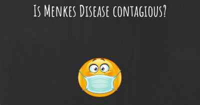 Is Menkes Disease contagious?