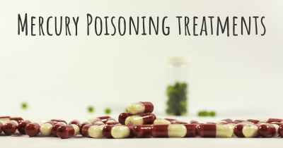 Mercury Poisoning treatments