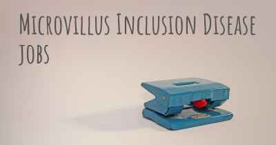 Microvillus Inclusion Disease jobs