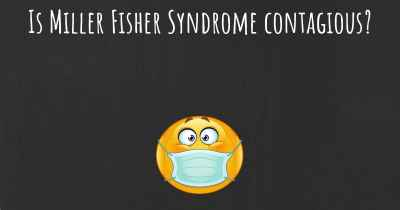 Is Miller Fisher Syndrome contagious?