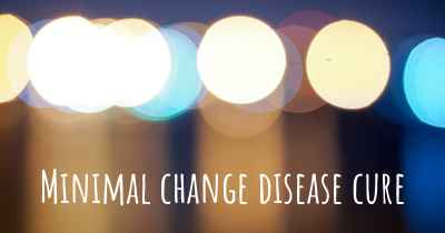 Minimal change disease cure
