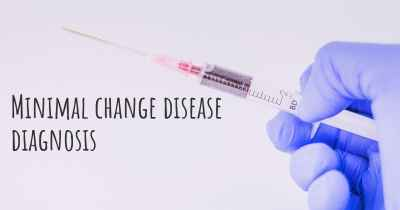 Minimal change disease diagnosis
