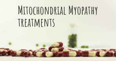 Mitochondrial Myopathy treatments