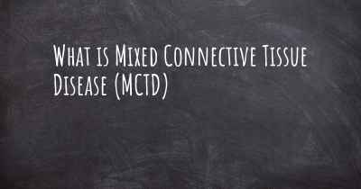 What is Mixed Connective Tissue Disease (MCTD)