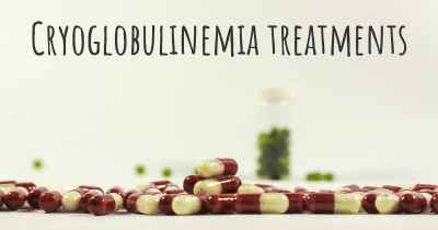 Cryoglobulinemia treatments