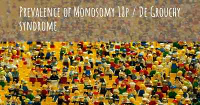 Prevalence of Monosomy 18p / De Grouchy syndrome