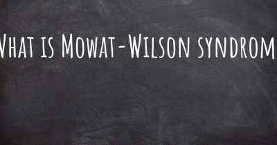 What is Mowat-Wilson syndrome