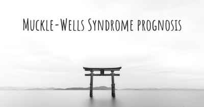 Muckle-Wells Syndrome prognosis