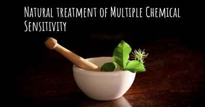 Natural treatment of Multiple Chemical Sensitivity