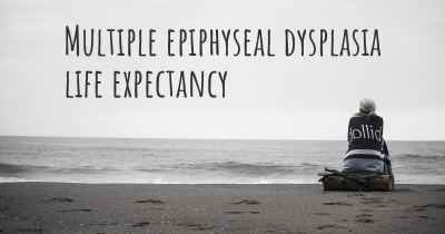 Multiple epiphyseal dysplasia life expectancy