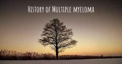 History of Multiple myeloma
