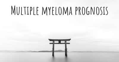 Multiple myeloma prognosis