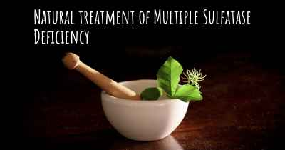 Natural treatment of Multiple Sulfatase Deficiency