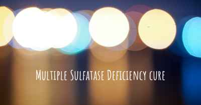 Multiple Sulfatase Deficiency cure