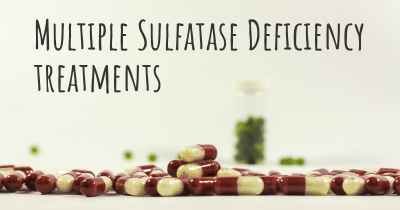Multiple Sulfatase Deficiency treatments