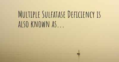 Multiple Sulfatase Deficiency is also known as...