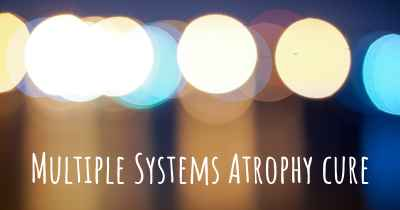 Multiple Systems Atrophy cure