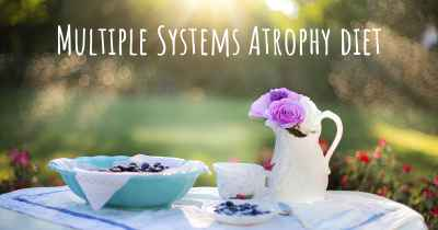 Multiple Systems Atrophy diet