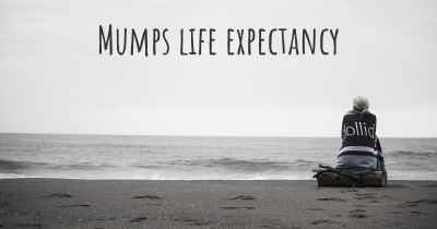 Mumps life expectancy