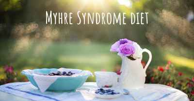 Myhre Syndrome diet