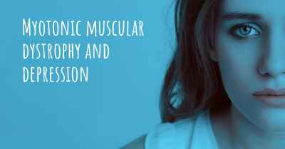 Myotonic muscular dystrophy and depression