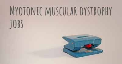 Myotonic muscular dystrophy jobs