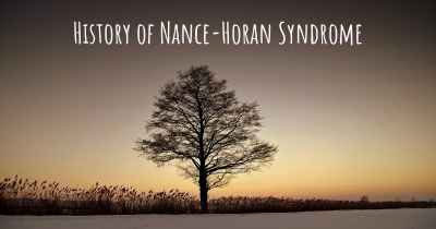 History of Nance-Horan Syndrome