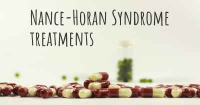 Nance-Horan Syndrome treatments