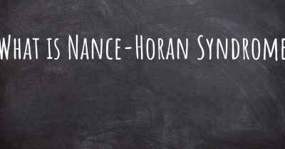 What is Nance-Horan Syndrome